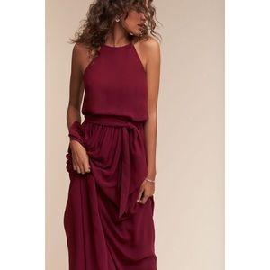 Bhldn Alana Dress by Donna Morgan Black Cherry